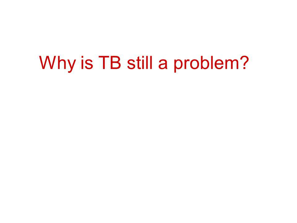 Why is TB still a problem