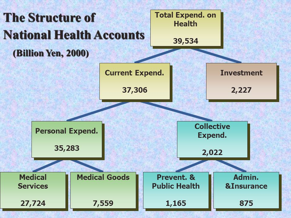 The Structure of National Health Accounts (Billion Yen, 2000) (Billion Yen, 2000) Total Expend.
