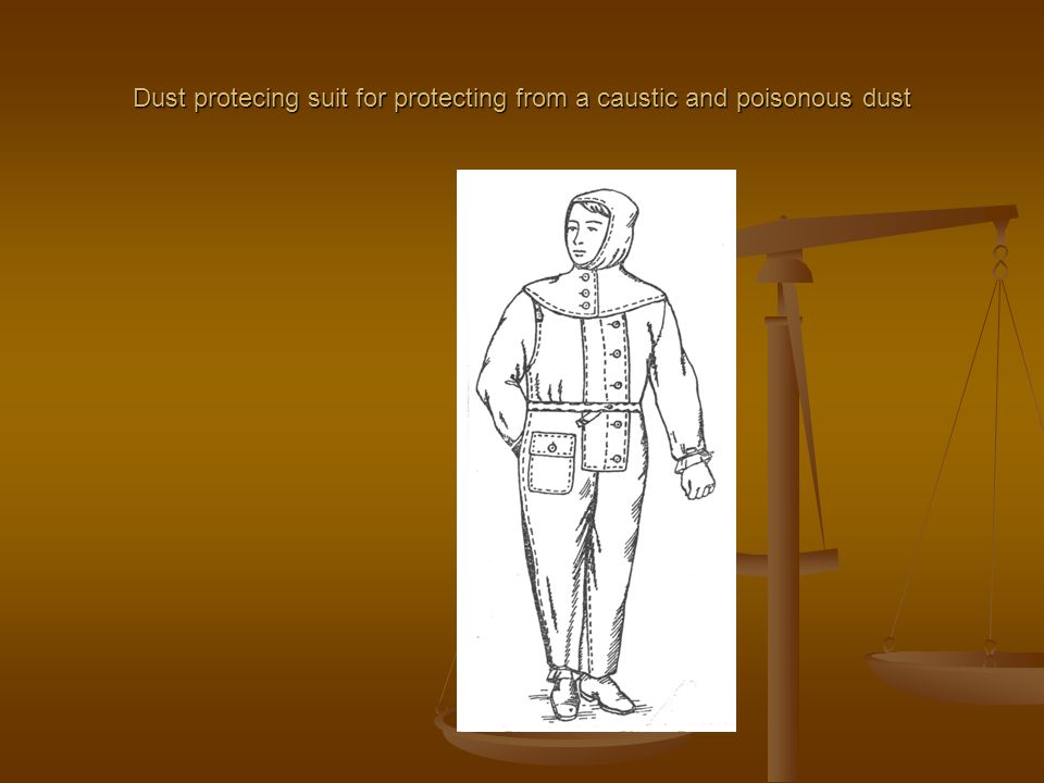 Dust protecing suit for protecting from a caustic and poisonous dust