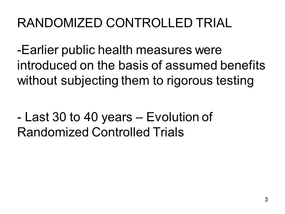 24 Types of Randomized Controlled Trials: 1.