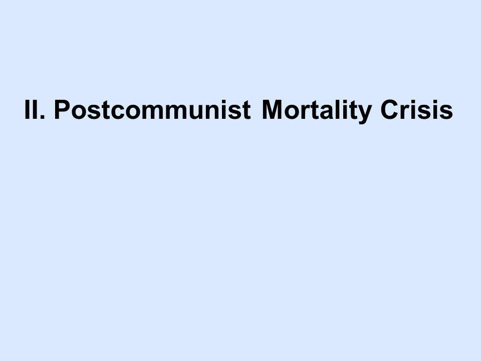 II. Postcommunist Mortality Crisis