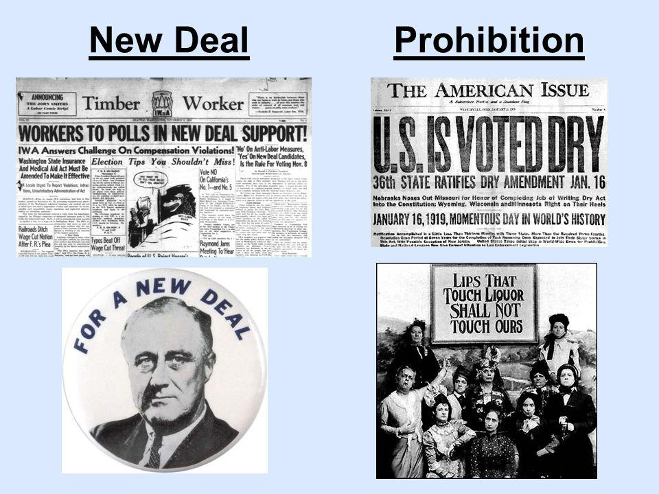 ProhibitionNew Deal