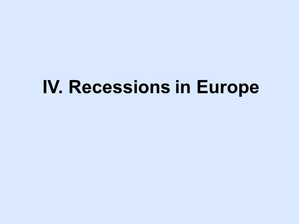 IV. Recessions in Europe