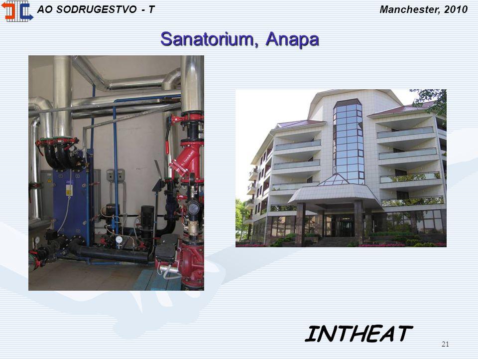 AO SODRUGESTVO - TManchester, 2010 INTHEAT 21 Sanatorium, Anapa
