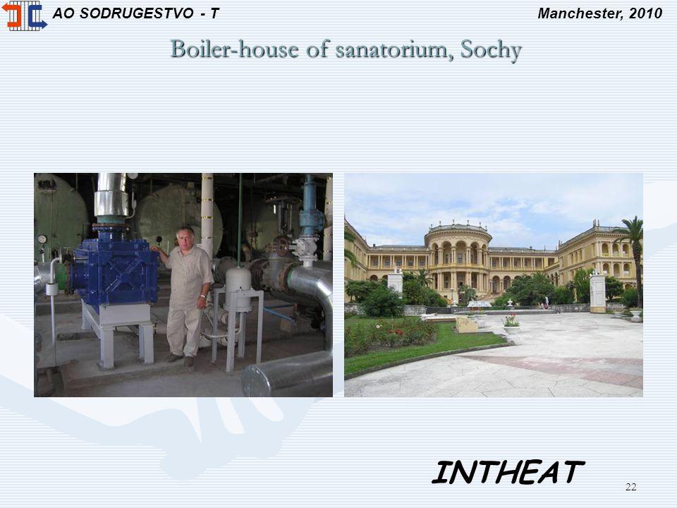 AO SODRUGESTVO - TManchester, 2010 INTHEAT 22 Boiler-house of sanatorium, Sochy