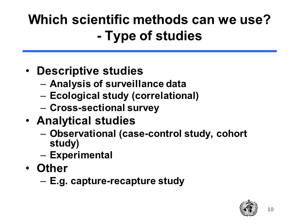 10 Which scientific methods can we use.