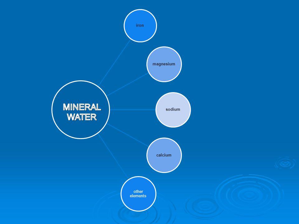 iron magnesium sodium calcium other elements