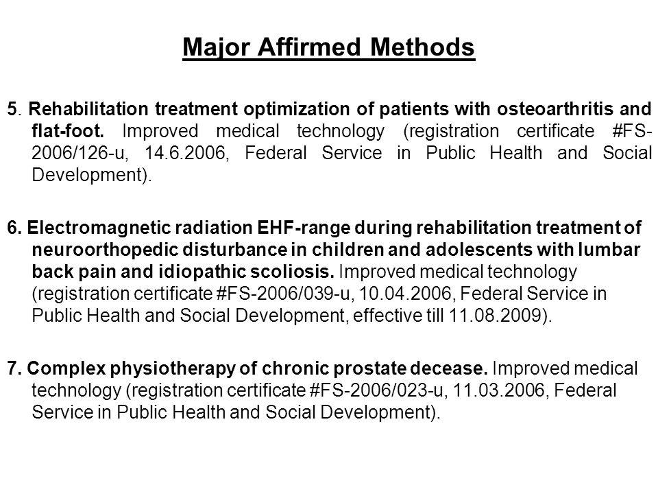 Major Affirmed Methods 5.