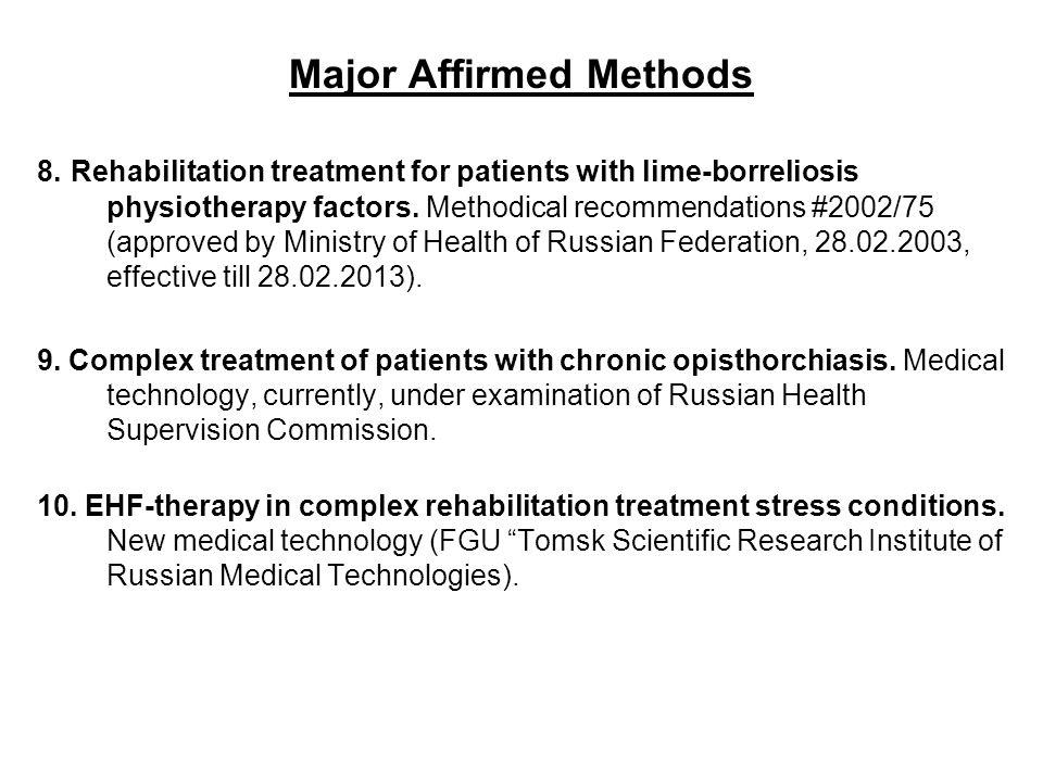 Major Affirmed Methods 8.