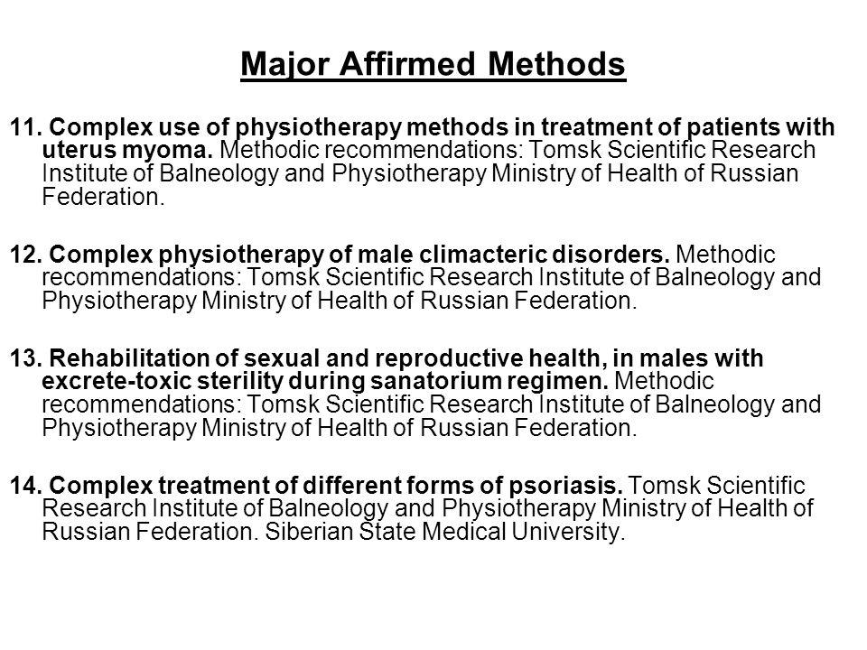 Major Affirmed Methods 11.