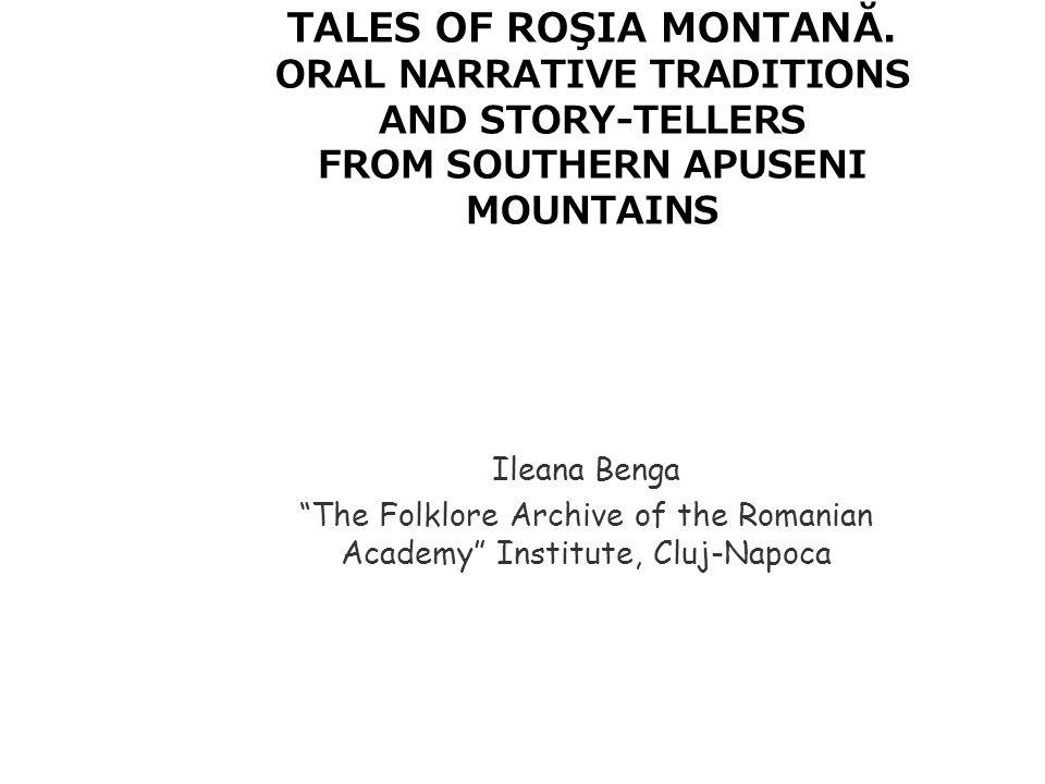 TALES OF ROŞIA MONTANĂ.