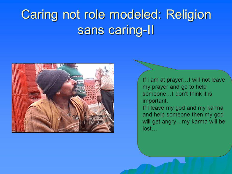 Did god role model healing? There is no such example of God role modeling healing