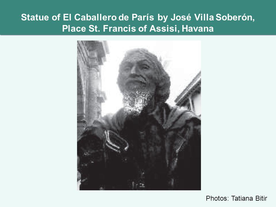 Statue of El Caballero de París by José Villa Soberón, Place St.