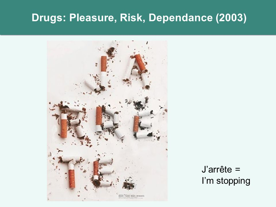 Jarrête = Im stopping