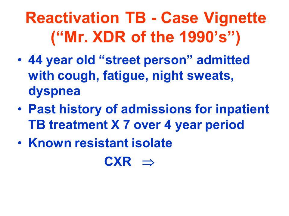 Reactivation TB - Case Vignette (Mr.