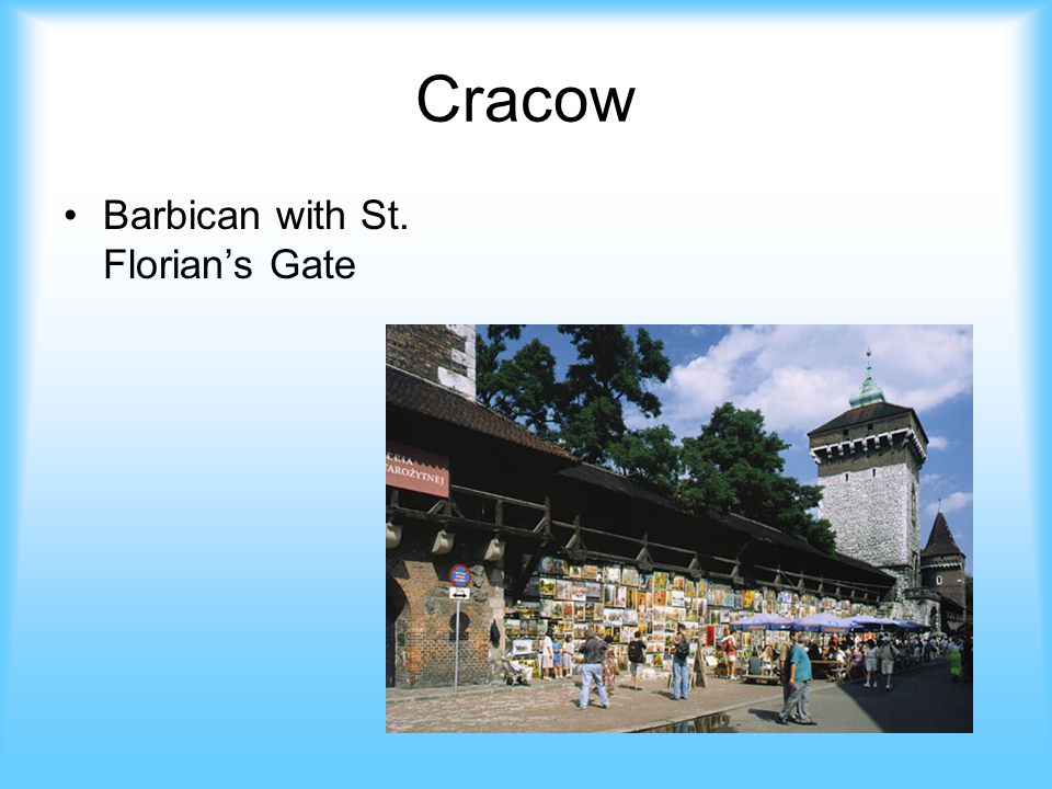 Cracow Barbican with St. Florians Gate