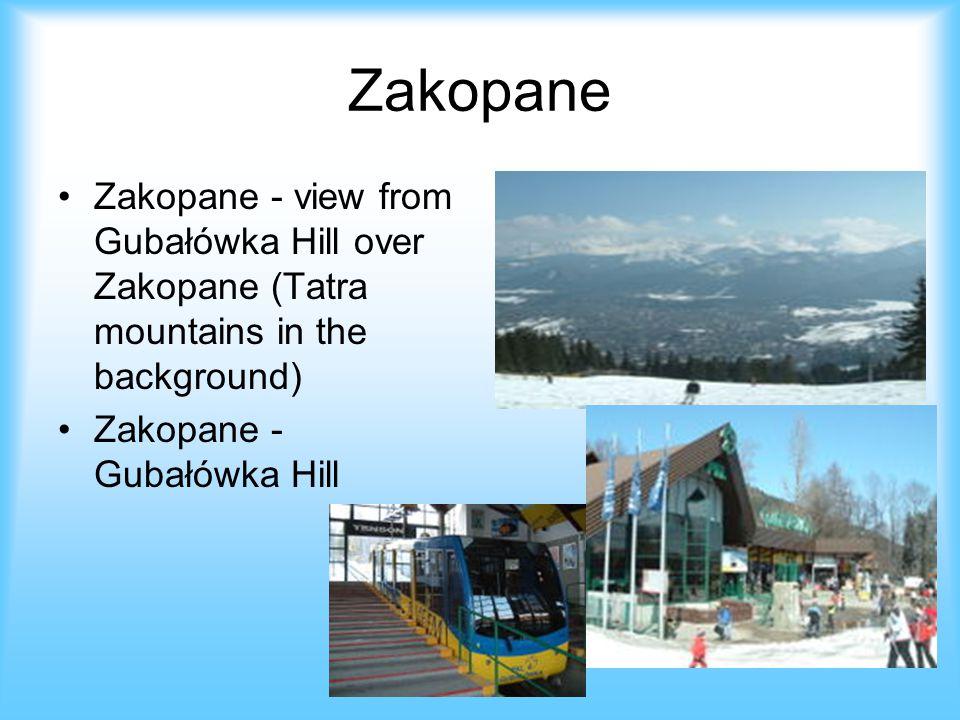 Zakopane Zakopane - view from Gubałówka Hill over Zakopane (Tatra mountains in the background) Zakopane - Gubałówka Hill