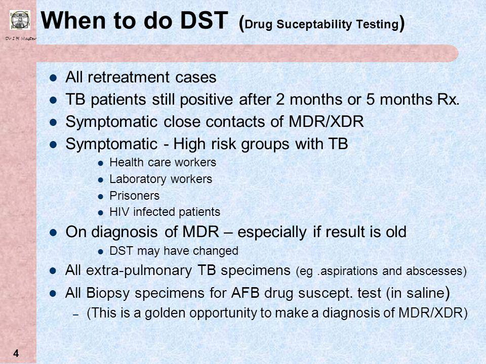 Dr I H Master 64 Progress of XDR Cohort (60) since 2006 Data courtesy of Max O Donnel