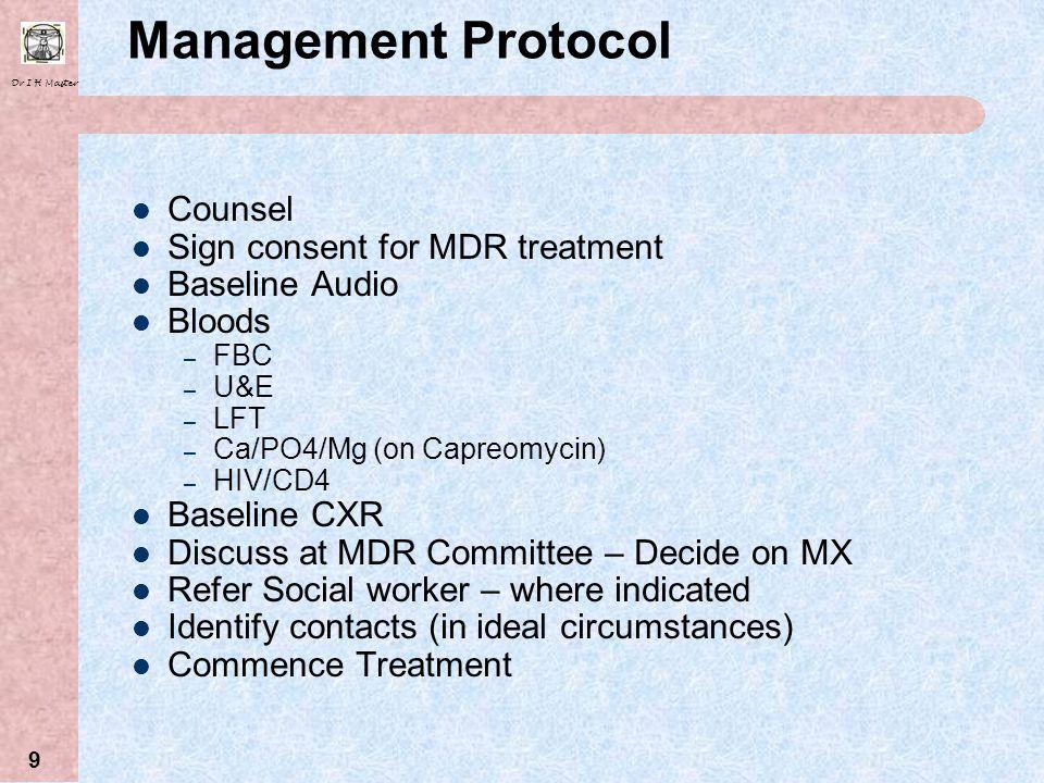 Dr I H Master 29 XDR TB