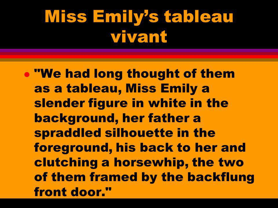Miss Emilys tableau vivant l