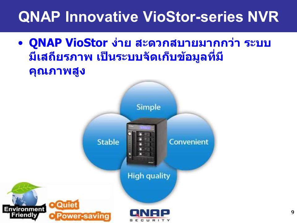 9 QNAP VioStor QNAP Innovative VioStor-series NVR