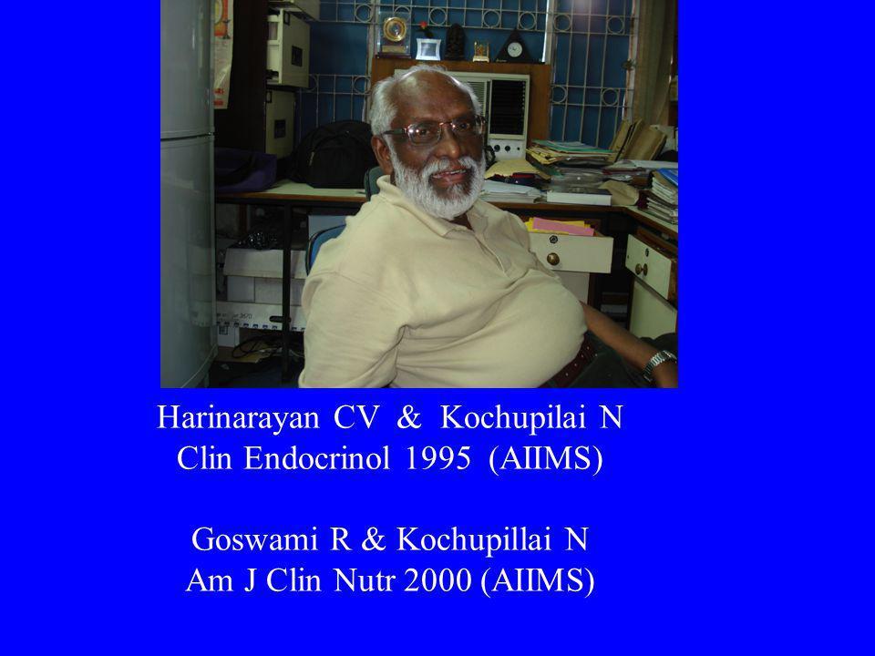 Harinarayan CV & Kochupilai N Clin Endocrinol 1995 (AIIMS) Goswami R & Kochupillai N Am J Clin Nutr 2000 (AIIMS)