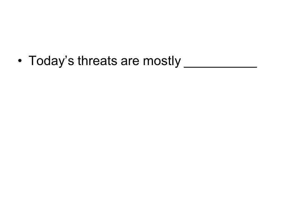 Todays threats are mostly __________