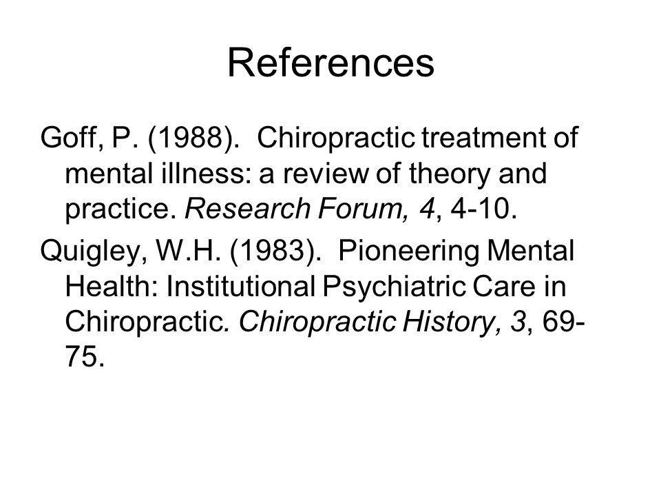 References Goff, P. (1988).