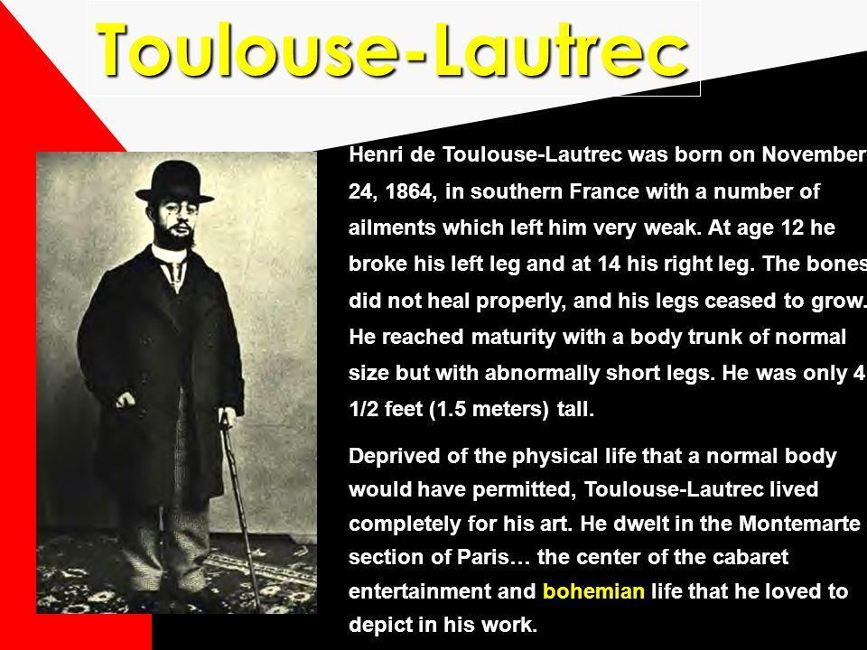 Commercial art and design also owe a great deal of debt to the next two artists… HENRI de TOULOUSE LAUTREC Henry de Tah-loose Luh-Trek ALPHONSE MUCHA