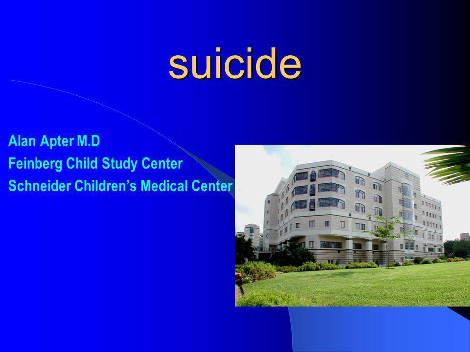 Alan Apter M.D Feinberg Child Study Center Schneider Childrens Medical Center suicide