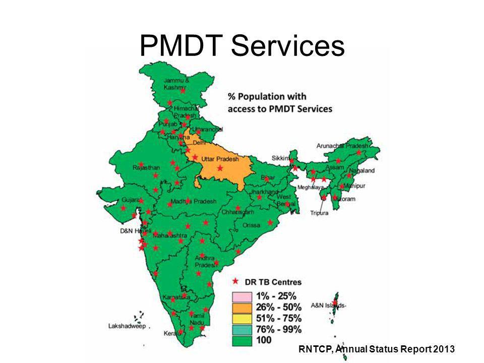 PMDT Services RNTCP, Annual Status Report 2013