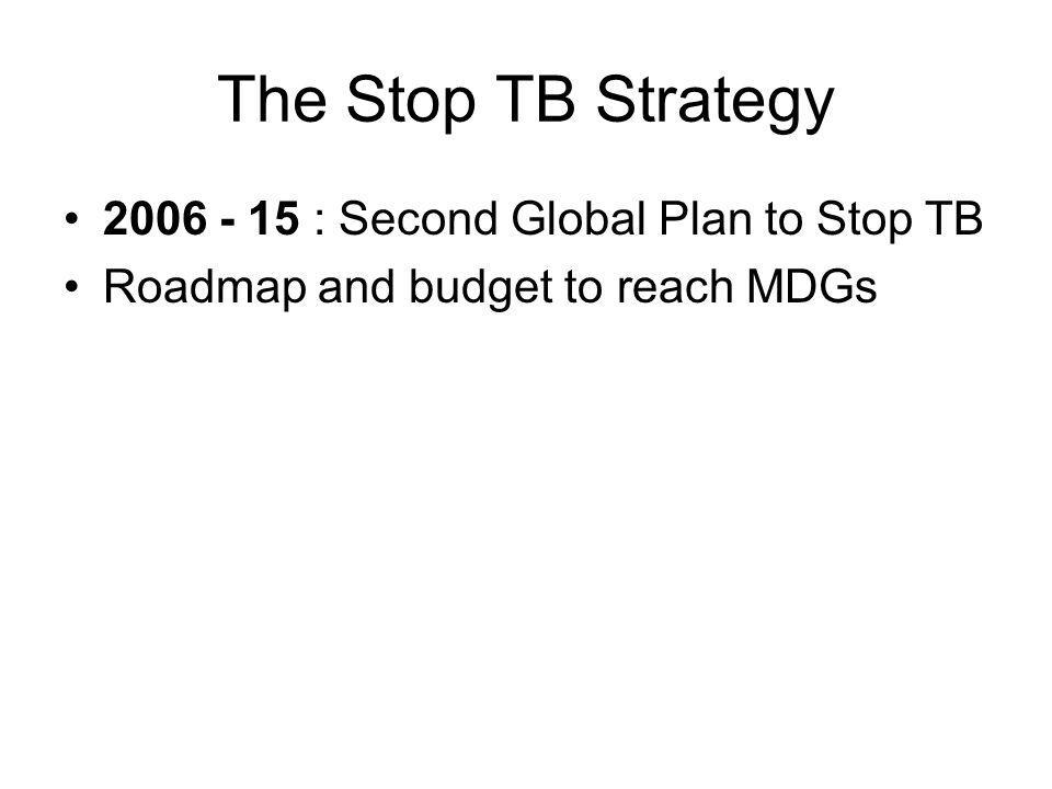 The Stop TB Strategy 2006 - 15 : Second Global Plan to Stop TB Roadmap and budget to reach MDGs