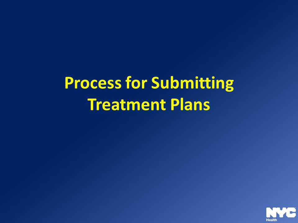 Process for Submitting Treatment Plans