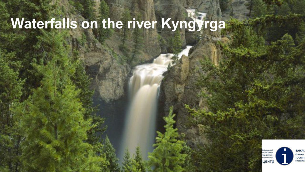 Waterfalls on the river Kyngyrga