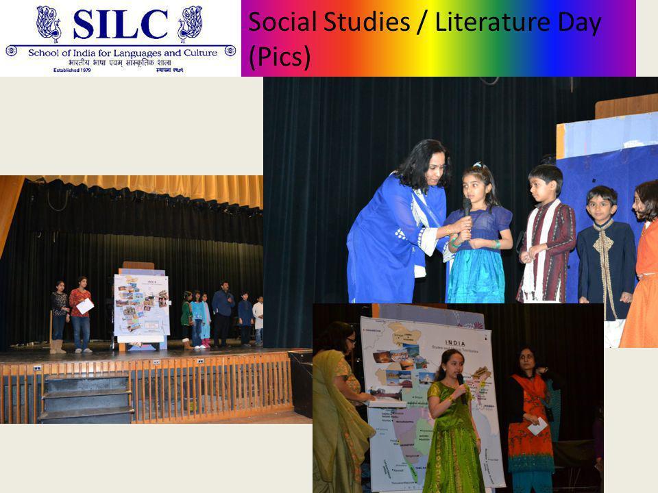 Social Studies / Literature Day (Pics)