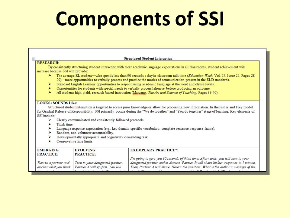 Components of SSI