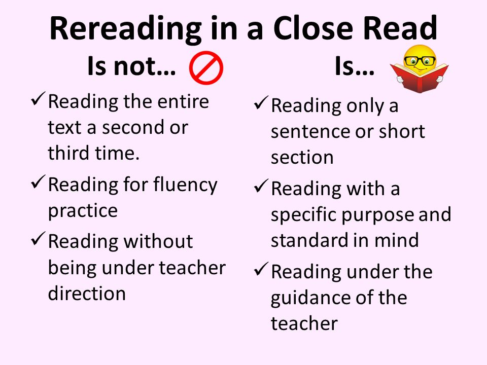 Rereading in a Close Read Is not… Reading the entire text a second or third time.