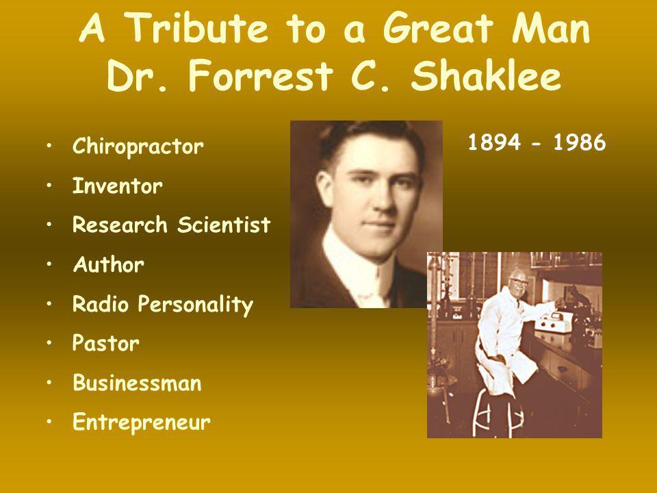 Forrest C.Shaklee second child to ROBERT & MARTHA SHAKLEE was born in November 1894.