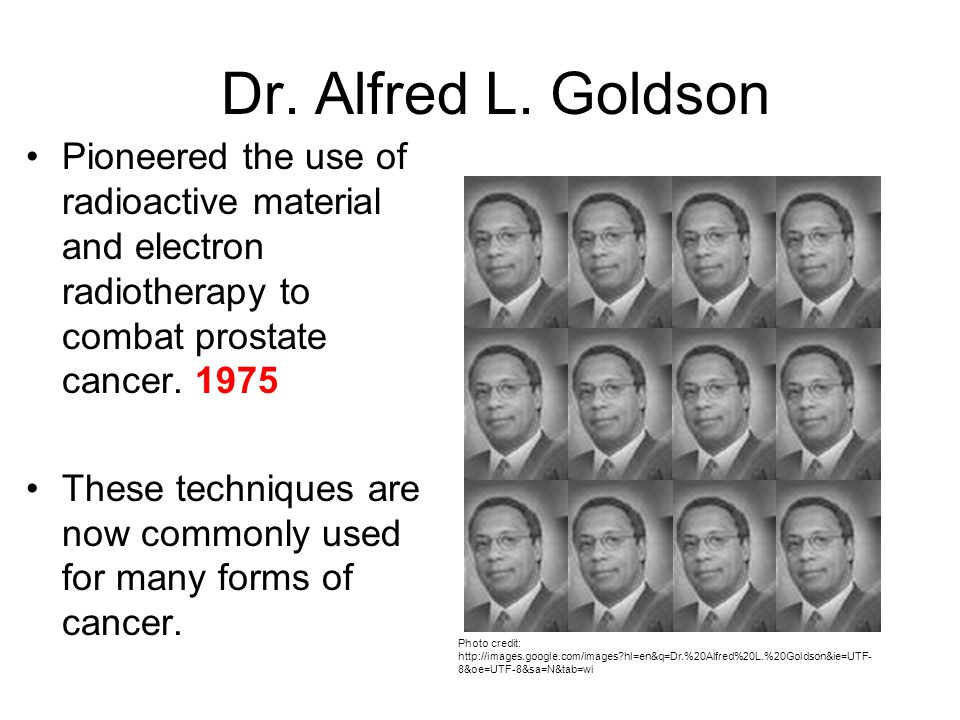 Dr. Alfred L. Goldson Photo credit: http://images.google.com/images?hl=en&q=Dr.%20Alfred%20L.%20Goldson&ie=UTF- 8&oe=UTF-8&sa=N&tab=wi Pioneered the u