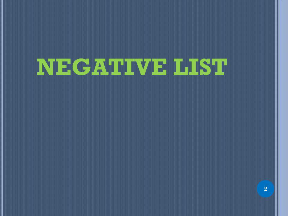 NEGATIVE LIST 2