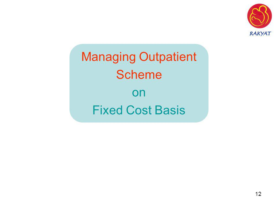 12 Managing Outpatient Scheme on Fixed Cost Basis