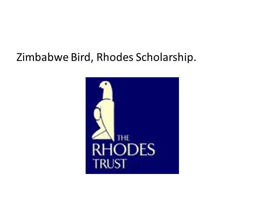 Zimbabwe Bird, Rhodes Scholarship.