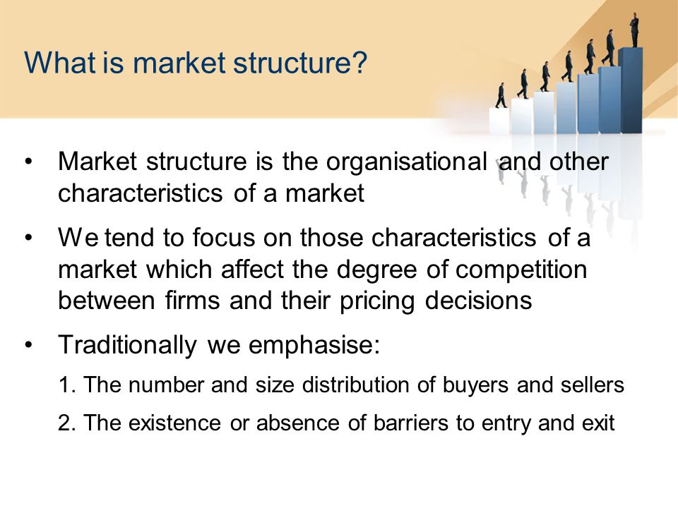 What is market structure.