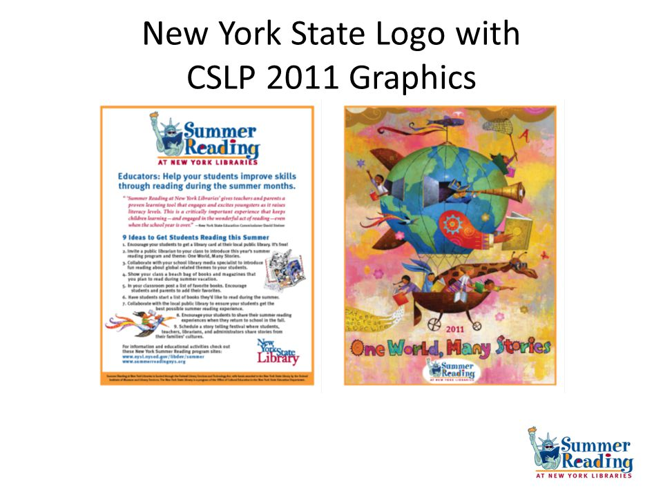 New York State Logo with CSLP 2011 Graphics