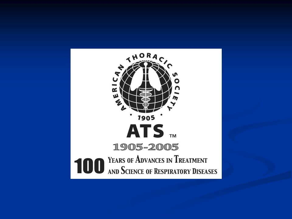 ATS began as a society of chest physicians– and nurses– who treated TB patients.