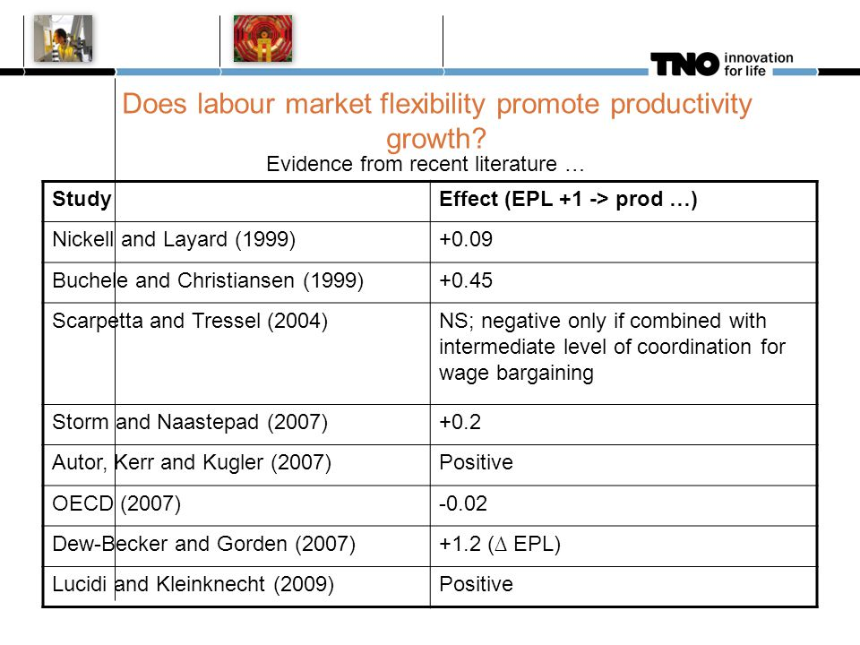Conclusions A return of the wage share from the value of the 2000s (51%) to the value in the 1970s (57%) would cause a rise in productivity growth of 1.5%; This is caused by both direct effects from higher wages as well as by indirect effects because flexible labour market undermine organisational innovative capacity.