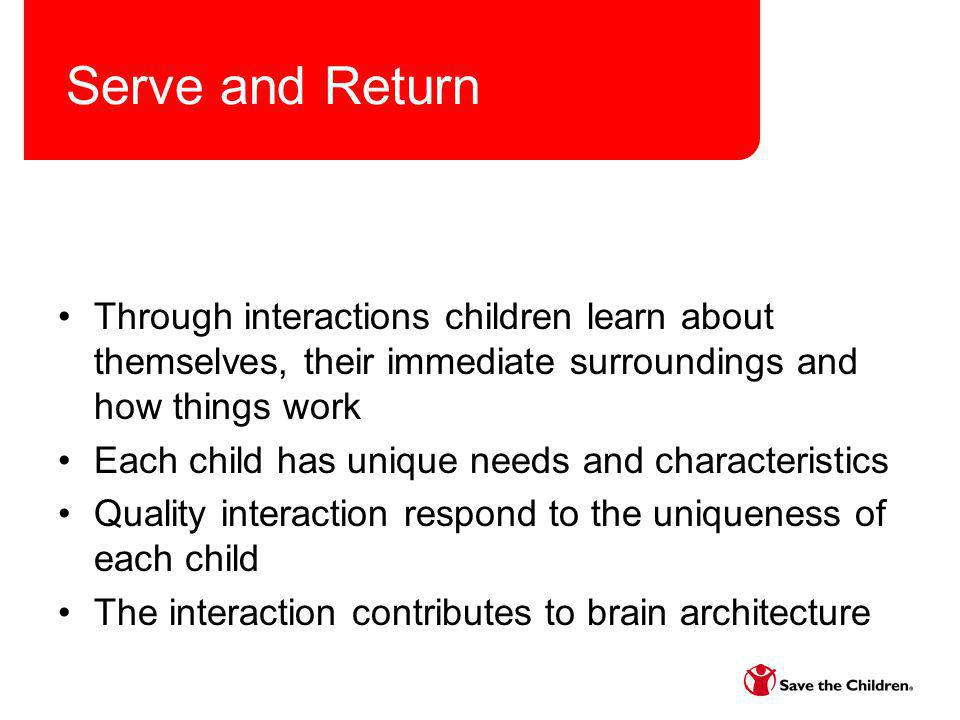 Importance of an effective daily routine – the when Helps children understand time Provides children a sense of security Contributes to their self-help skills Contributes to positive discipline Helps children self-control Helps children with problem solving Contributes to development of social/emotional skills