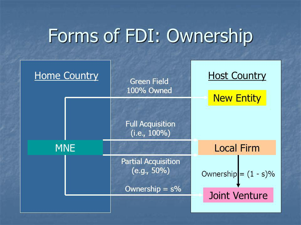 Foreign Acquisition Local Firm Investment HOME COUNTRYHOST COUNTRY MNE Profit