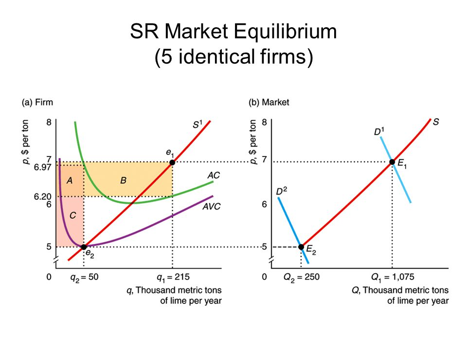SR Market Equilibrium (5 identical firms)