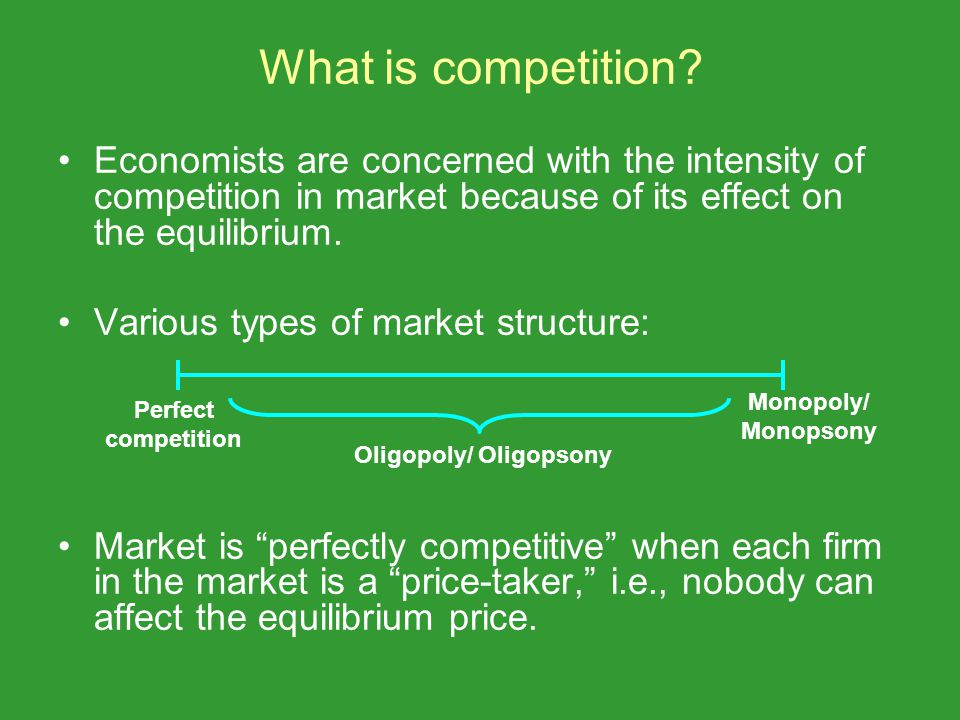 What is competition.